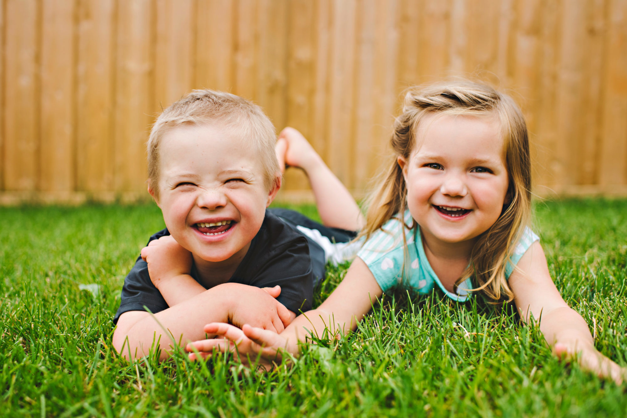 kids in backyard